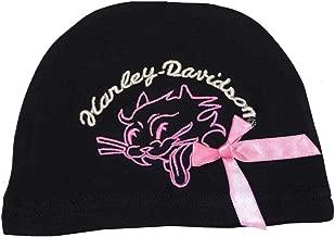 HARLEY-DAVIDSON Baby Girls' Beanie, Rebel Kitty Newborn Cap, Black 4200268