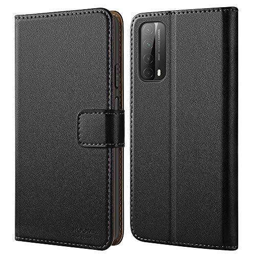 HOOMIL Handyhülle für Huawei P Smart 2021 Hülle, Premium Leder Flip Hülle Schutzhülle für Huawei P Smart 2021 Tasche (Schwarz)