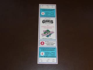 1989 GIANTS WORLD SERIES FULL TICKET Game 4 MINT
