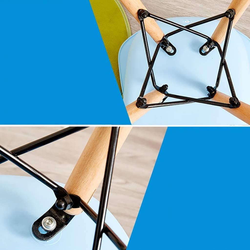 Chaise De Salle À Manger En Plastique PP Maison Fauteuil, Cuisine Restaurant Contre-chaise, Forme D'oiseau 30cm  Pour 60cm Table (Color : Yellow) White×2