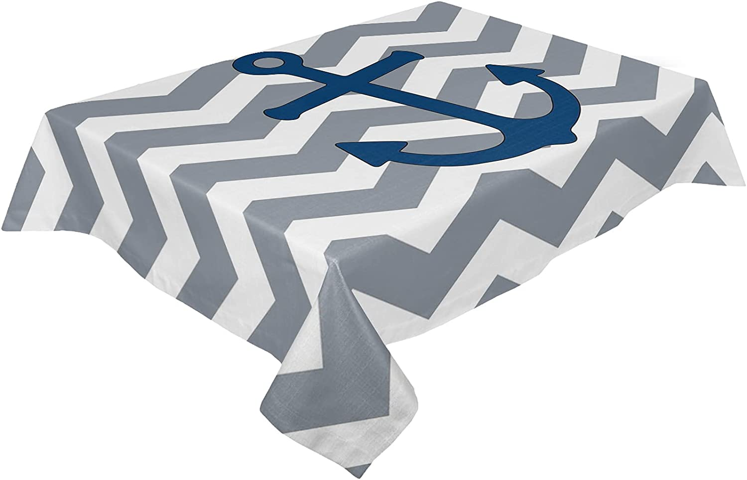 HELLOWINK Rectangle Table Large special price Cloths Anchor Max 87% OFF 52x70inch Party Nautical