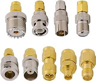 ALLiSHOP SMA Adapter Kit for SDR, 9 Type SMA Connector Male Plug to SMA BNC UHF MCX F TV N Female RF Coax Adapter Compatib...