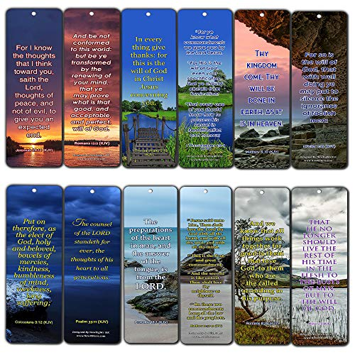 KJV Religious Bookmarks - Bible Verses About God's Will (12-Pack) - Inspiring Scripture Texts About How to Do God's Will