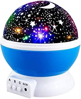 Star Night Lights for Kids, Star Light Lamp Rotating Projector 360 Degree Romantic Rotating Cosmos Star Projector for Kids...