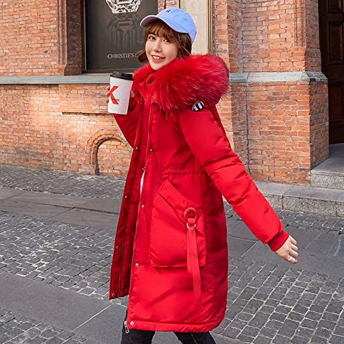 WFSDKN Down jas Winter jas vrouwen jas vrouwelijke 2019 lange slanke Letter patroon vrouwelijke Jassen rits bontkraag vrouwen down Jacket