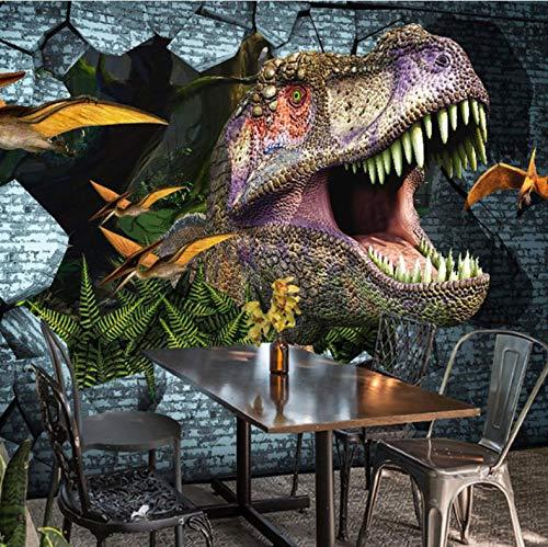 WH-PORP Foto Papel de pared 3D Dinosaurios Pintura Mural Papel tapiz Mural Dormitorio Ktv Bar Telón de fondo Murales de Pared Wallpaper Home Decor-450cmX300cm