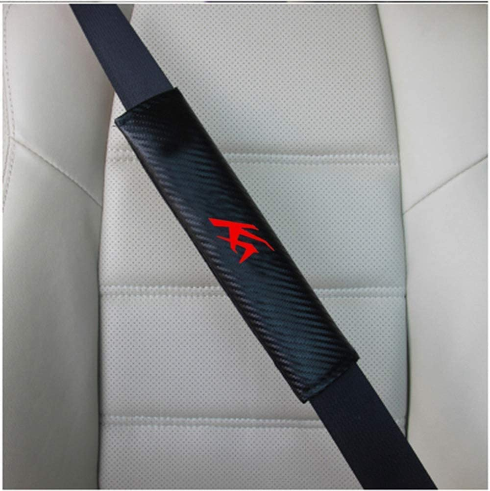 JABAVE 2Pcs Car Seat Belt Pads Cover With Brand Logo Car Seat Belt Shoulder Pad Interior Accessories For Ford Ka