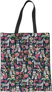 FUIBENG Cute Husky Dog Beach Shoulder Bag Linen Tote Women Girl Student Handbag