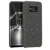 kwmobile Hülle für Samsung Galaxy S8 - Case Handy Schutzhülle Stoff - Backcover Cover Canvas Design Grau