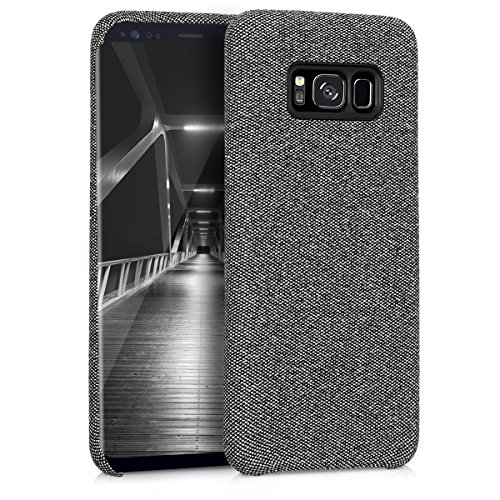 kwmobile Hülle kompatibel mit Samsung Galaxy S8 - Stoff Case Handy Schutzhülle - Backcover Cover Grau