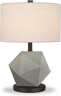 Henn&Hart Concrete Geometric Lamp, One Size