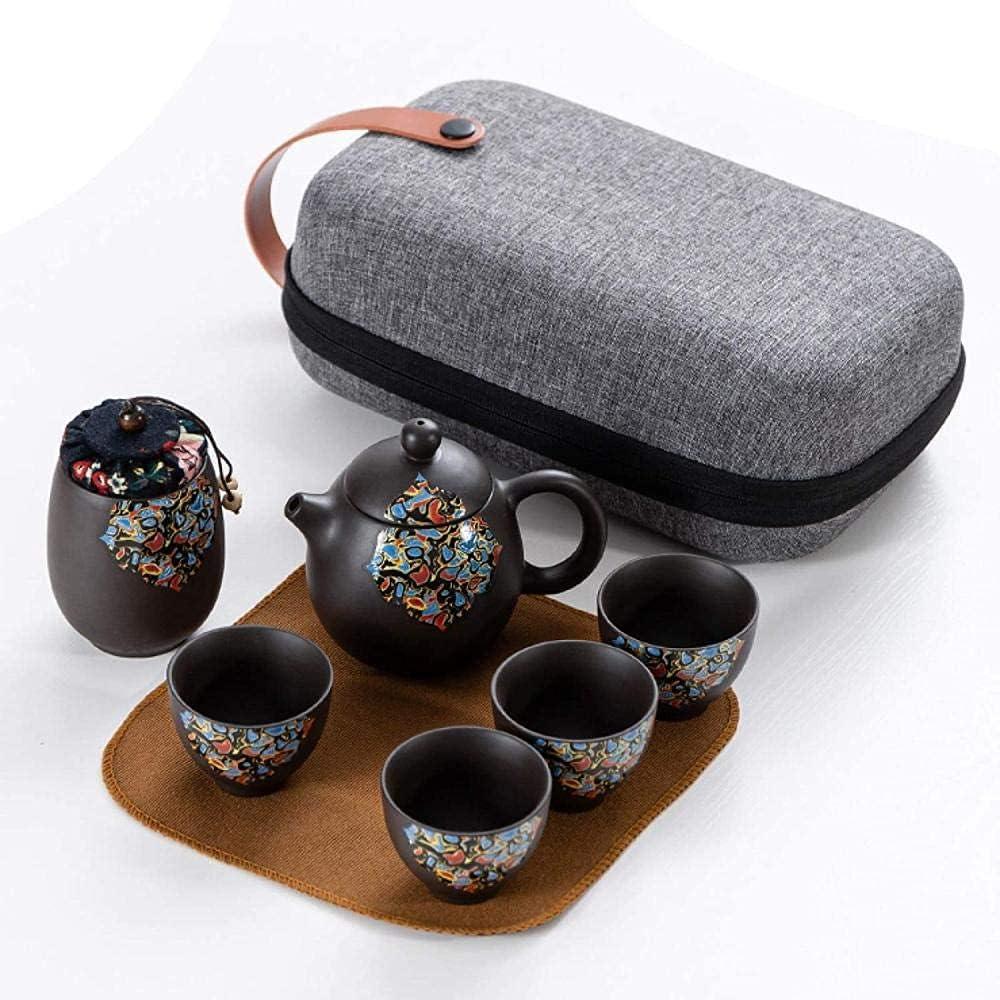 Award-winning store Teapot Ranking TOP4 Japanese, Travel Tea Set Kungfu Purple Ceramic C