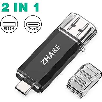 Memoria USB Tipo C 64GB 3.0 Pendrive USB C OTG Pen USB Dual Flash Drive Type C Pen Drive Doble Entrada para Android (Algunos Dispositivos de Huawei, Xiaomi, Samsung) Móviles, MacBook, PC: