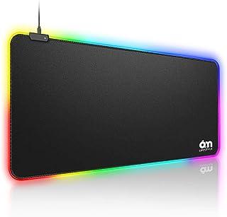 6amLifestyle Alfombrilla de Ratón Ordenador Gaming RGB Grande XXL 800*300*4,0 mm Ergonomica y LED Optico Alimentado por US...