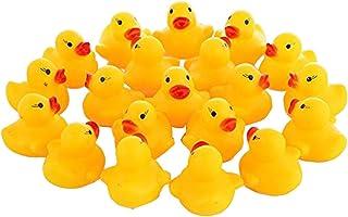 【CRSHIP】笛付きアヒル(小) 100入り うきうきアヒル 鴨 おもちゃ☆ 水遊び お風呂 プール すくい用 (100個入リ)