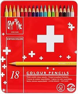 CREATIVE ART MATERIALS Swisscolor Pencils Metal Box, Set of 18 (1285.718)