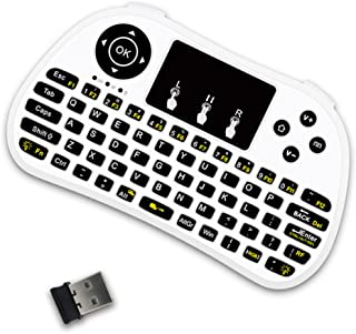 Goofly P9 2.4G RF Wireless Keyboard Flash Blacklit Keyboard w/Touchpad Mouse Combo Keys Handheld Remote Control for Androi...