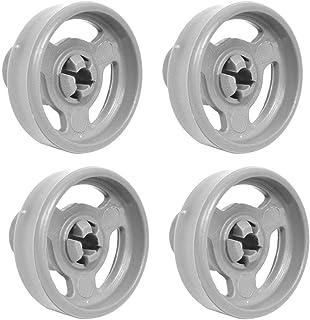 Lot de 4 roues de rechange pour panier inférieur et axe pour lave-vaisselle Candy 0120200345 35 mm 49037409 49005659