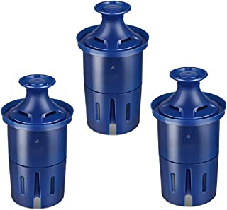 Longlast Water Filter, Replacement Filters for Brita Pitcher and Dispenser, Reduces Lead, BPA Free 3 Count