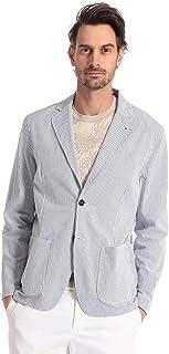 (ラルディーニ) LARDINI 綿100% 細ストライプ シアサッカー シングル シャツ ジャケット [LDAMAEIC1189] [並行輸入品]