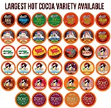 Two Rivers Chocolate Hot Cocoa Pods, Single Serve Variety Sampler Pack Compatible with 2.0 Keurig K-Cup Brewers, 40 Count - Largest Assorted Hot Cocoa
