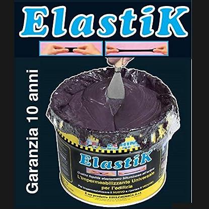 Foto di Guaina liquida bituminosa impermeabilizzante ELASTIK 1,2 kg EDILCHIMICA Dielle