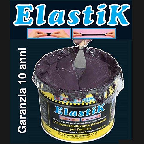 Guaina liquida bituminosa impermeabilizzante ELASTIK 1,2 kg EDILCHIMICA Dielle