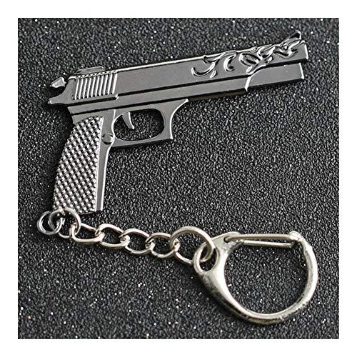 Llaveros CS GO CSGO CF Llavero AK 47 Rifle Pistola Arma Counter Strike Cross Fire AK47 AK47 Llavero del Anillo PUBG joyería al por Mayor (Color : Desert Eagle)