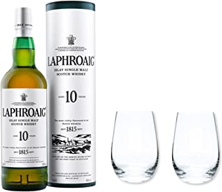 Laphroaig Single Malt Whisky 10y 40% 0,7l als Set mit 2 Stölzle Tumbler Gläser