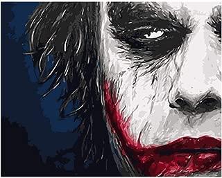 TUDINGH Pushpin Painting DIY Painting sad Crying Clown Male Figure Wedding Decoration Art Picture gift-34X46cm