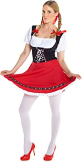 Morph Womens German Lederhosen Costume Sexy Oktoberfest Dirndl Female Fancy Dress - Large