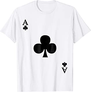 Ace of Clubs Deck of Cards Halloween Costume T-Shirt
