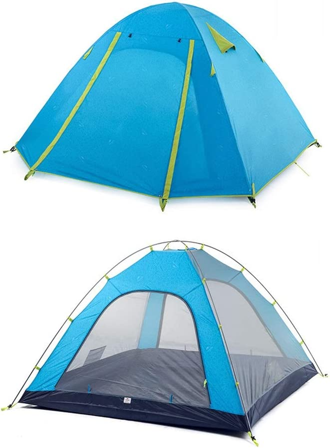 zZZ Outdoor Max 68% OFF Camping Tent Aluminum Pole Rainproof W People Blue Quality inspection 3