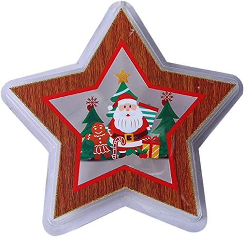wholesale RiamxwR online Christmas Glowing Pendant Christmas Hanging Ornament with Lights, New Year Santa Claus Hanging Lights for Christmas Tree Window outlet sale Wall Decoration (Style D) outlet online sale
