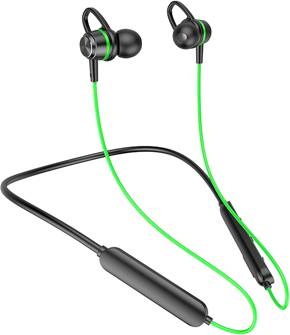 LUYANhapy9 Sport Wireless Earbuds Bluetooth 5.0 Headphones,BT68 Rechargeable Wearable Heavy Bass Earphones Noise Cancelling Premium Deep Sound Bass Headset for Phone Green One Size