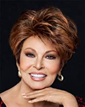 RL8/29SS Shaded Hazelnut Lace Front Short Monofilament Fanfare Wig by Raquel Welch