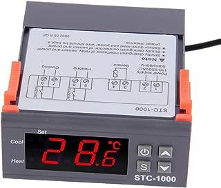RGBZONE LED Digital Temperature Controller, STC-1000 AC110-220V Centigrade Thermostat w/Sensor 2 Relays Heater Cooler Control