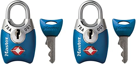Master Lock 4689T Keyed TSA Accepted Luggage Lock, 2 Pack, Assorted Colors