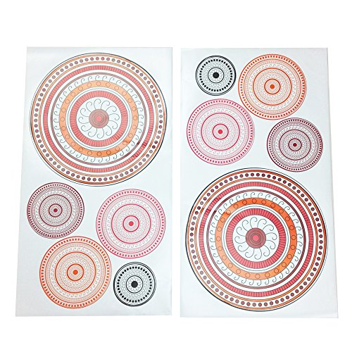 One Grace Place Sophia Lolita Wall Decals, White, Pink, Berry, Orange, Black