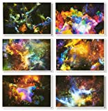48 Pack All Occasion Greeting Cards - Assorted Blank Note Cards Bulk Box Set Cosmic Design...