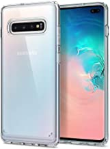 Spigen [Ultra Hybrid] Galaxy S10+ Plus Case Cover with Clear Hybrid Drop Protection Designed for Samsung S10 Plus (2019) - Crystal Clear