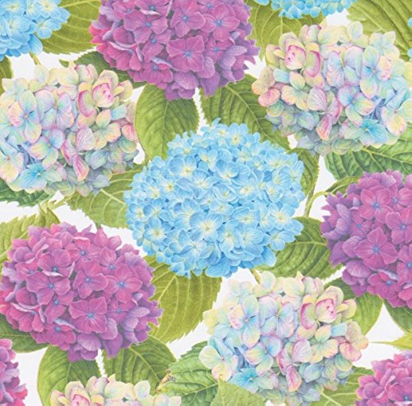 Caspari Hydrangea Garden Gift Wrap Roll - One 30