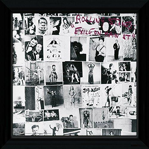 Poster Plattencover der Rolling Stones / Exile on Main Street, gerahmt