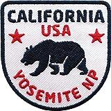 Club of Heroes 2 x California USA Abzeichen gestickt 60 x 60 mm/Yosemite National-Parks Amerika Trekking Reise/Aufnäher Aufbügler Flicken Sticker Patch/Reiseführer Wanderführer Buch Camping Wohnmobil