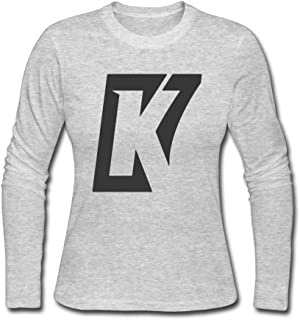 Women's Fashion Kaepernick K Logo Long Sleeve Tee Shits