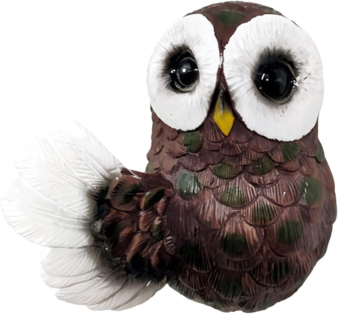 Owl List price Tree Hugger Statues Outdoor Max 90% OFF Garden Peeker De