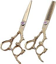 Purple Dragon 6.0 inch Professional Dragon Handle 440C Salon Hair Cutting Scissor –..