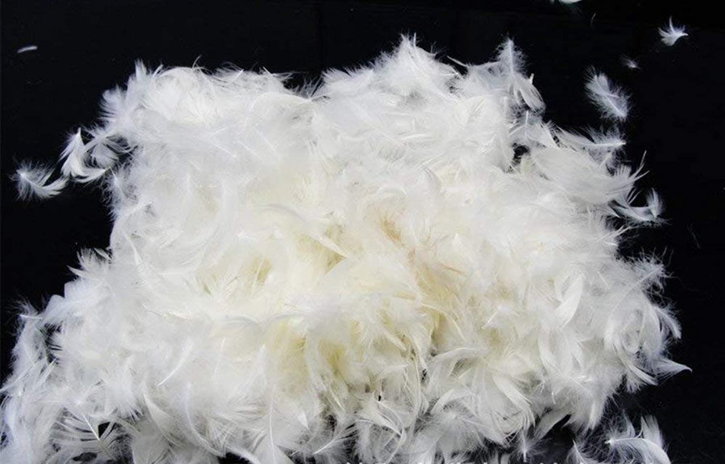 Bulk Natural 5% White Goose Down Feather Filling DIY - Make Your Pillow, Comforter, Sleeping Bag and More (1/2lb)