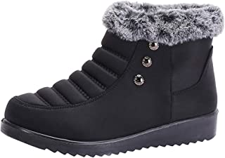 SEXYTOP Women's Anti-Skid Fur Lined Warm Ankle Boots Winter Snow Booties Waterproof Outdoor Comfortable Shoes Footwears