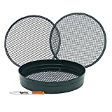 Tigerbox Premium Quality Powder Coated Steel Garden Riddle/Soil Sieve Set with 3/8', 1/4' & 1/2'...